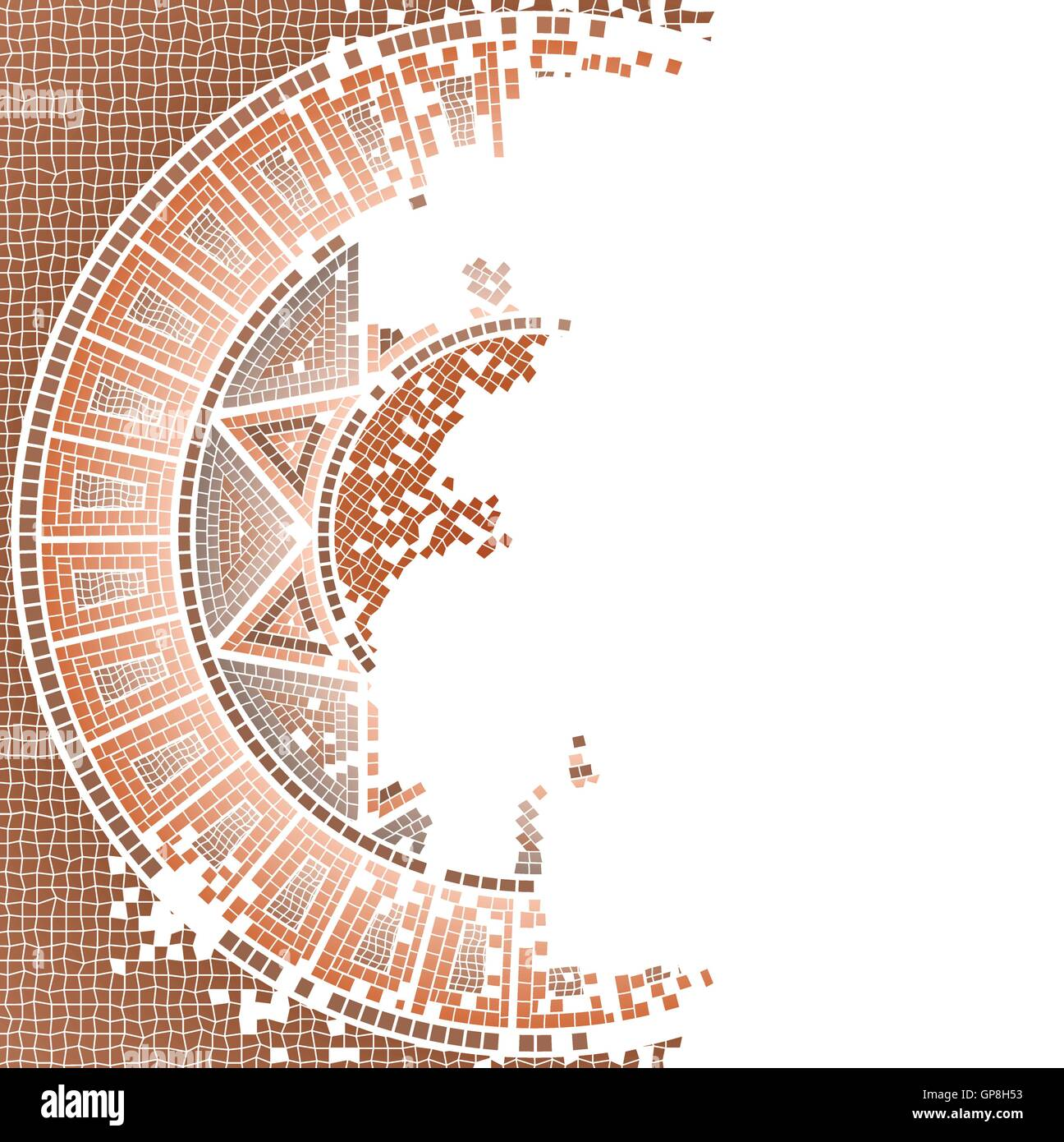 Antique, worn out mosaic vector background - Stock Vector