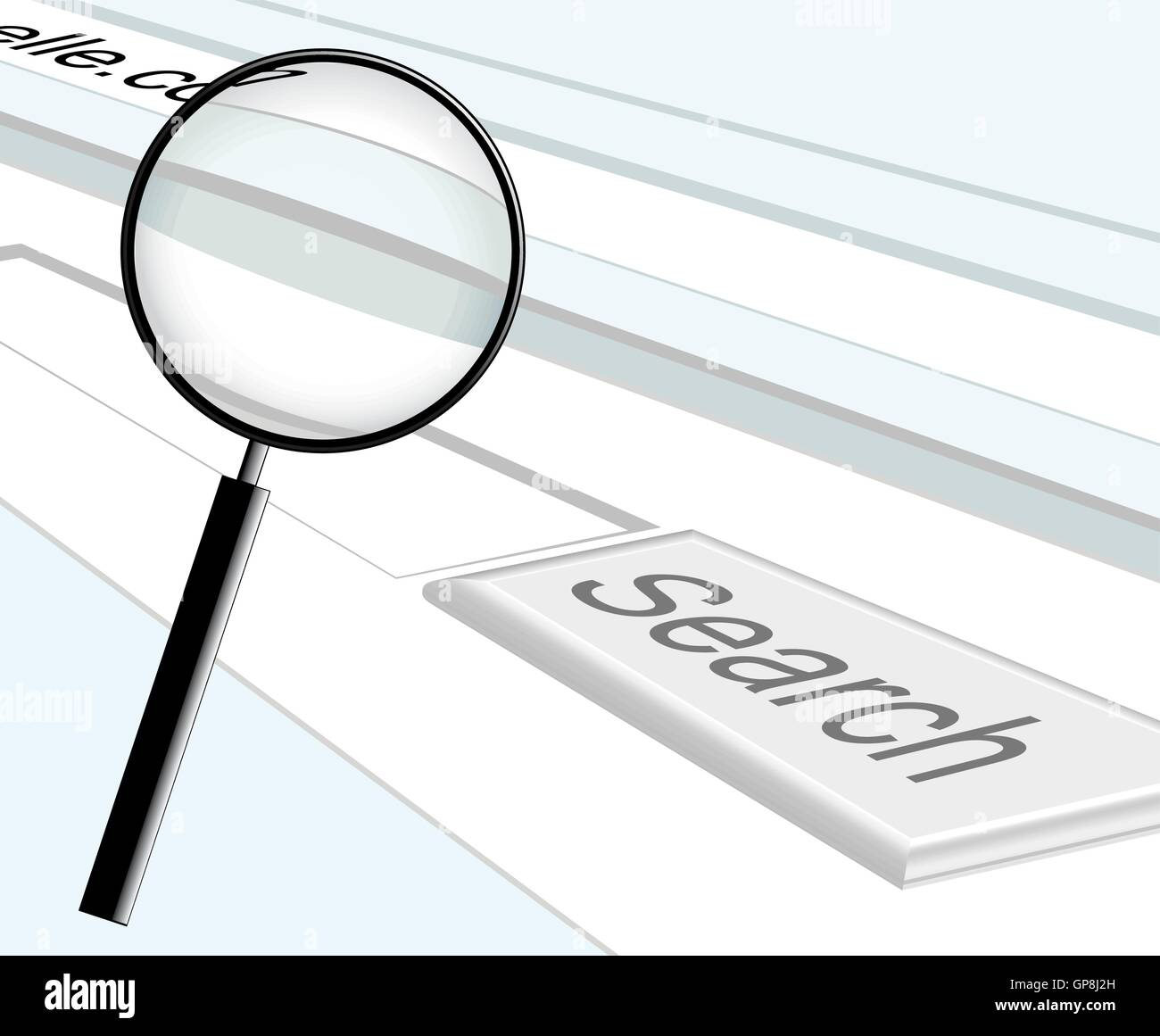 web search and magnifier vector illustration - Stock Vector