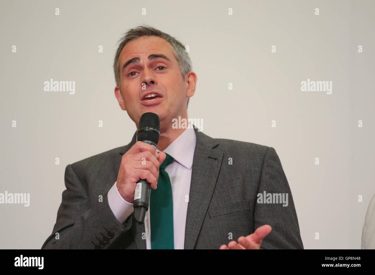 Jonathan Bartley, elected co-Leader of the Green Party of England and Wales,, September 2016 - Stock Image