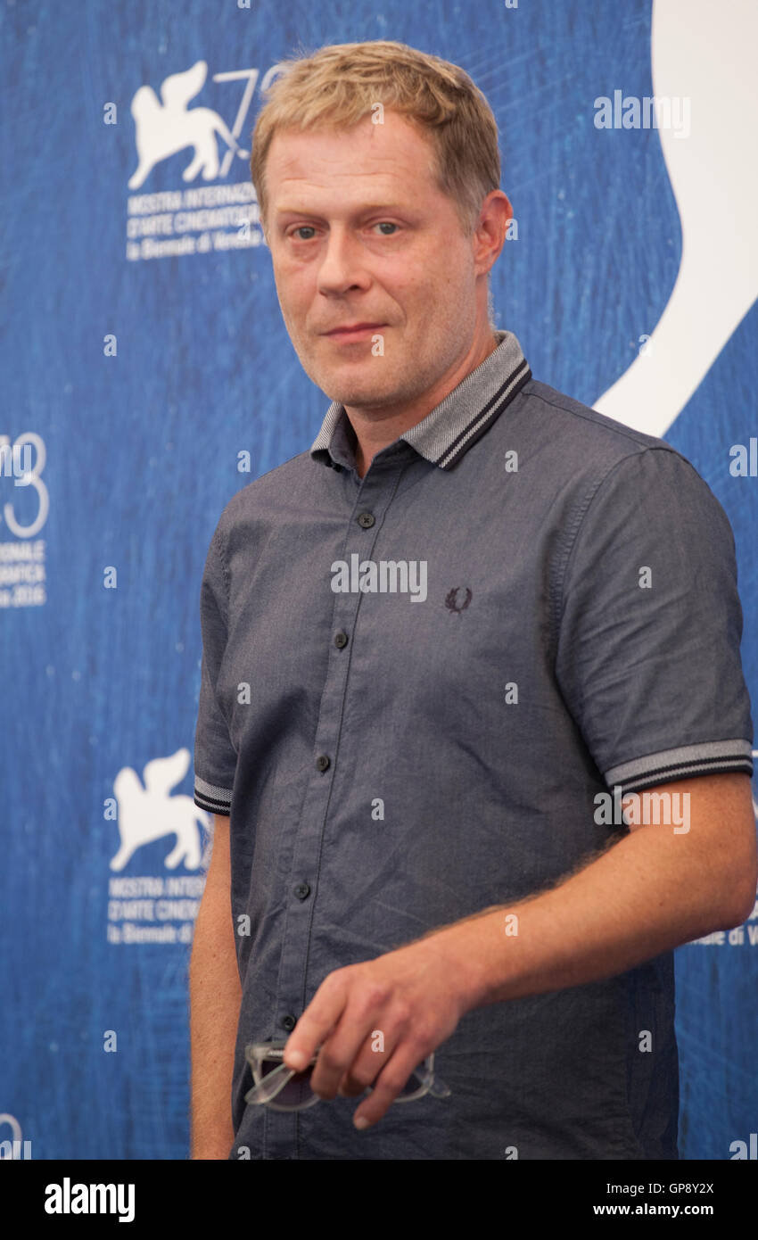 Venice, Italy. 2nd September, 2016. Andreas Lust at the Die Einsiedler (The Eremites) film photocall at the 73rd - Stock Image