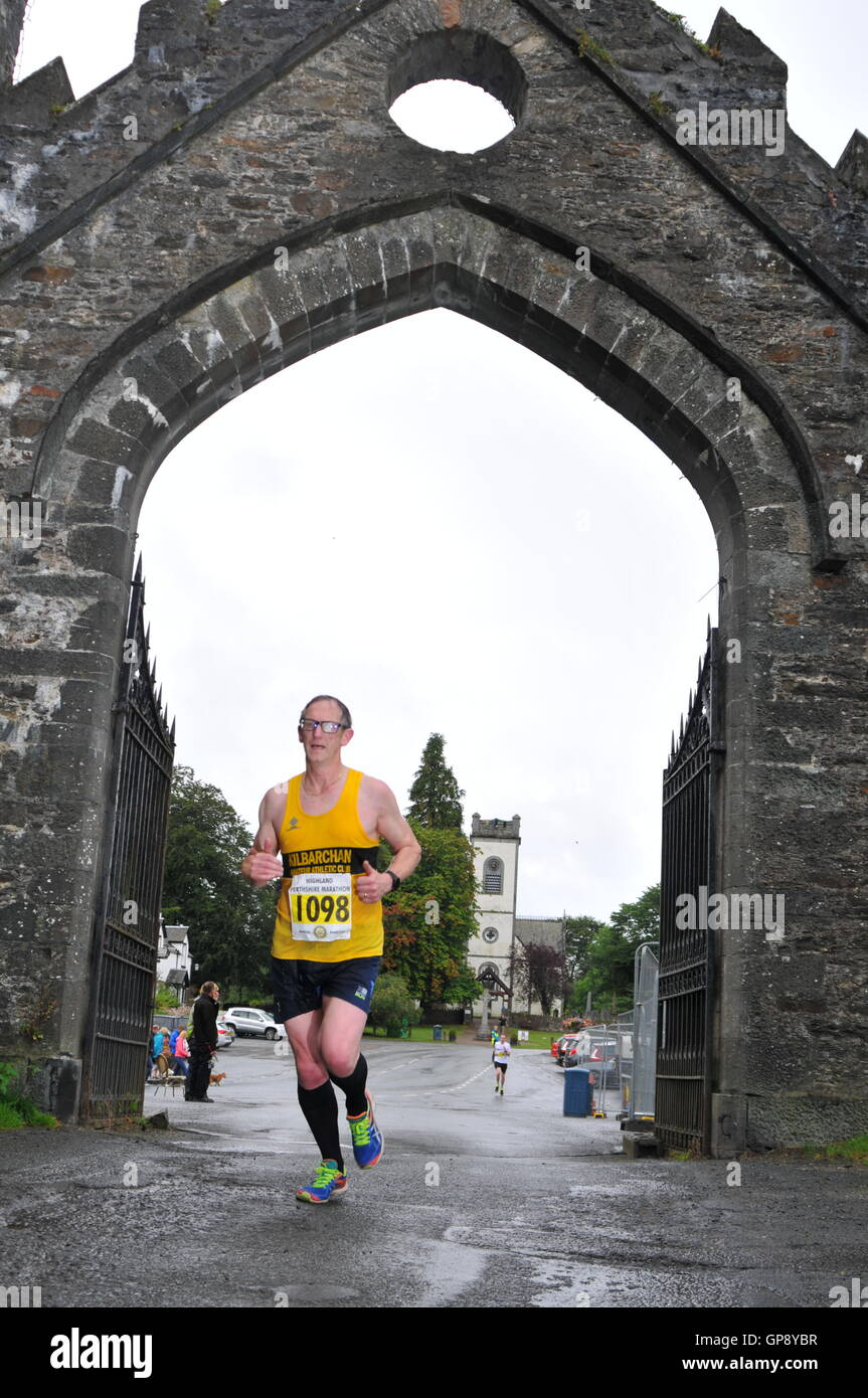 Aberfeldy, Perthshire, Scotland, UK. 3rd September, 2016. Long Distance runners taking part in the Highland Perthshire - Stock Image