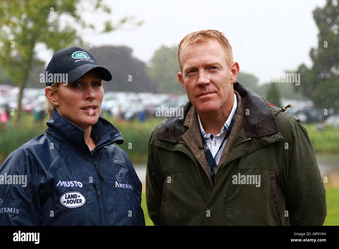 Land Rover Burghley Horse Trials . Stamford, Lincolnshire, UK. 03rd Sep, 2016. Zara Tindall and Countryfile presenter - Stock Image