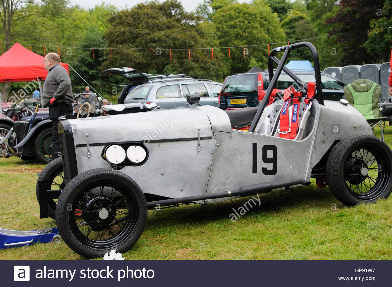Bo'ness, UK. 3 September, 2016.  Austin 7 Super Accesories S in the paddock at the Bo'ness Speed Hill Climb. - Stock Image