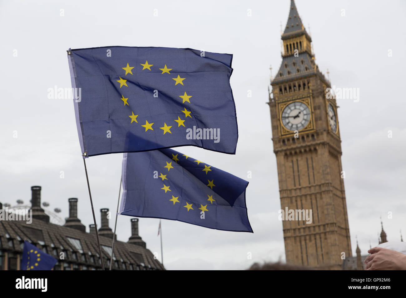 London, UK. 3rd September, 2016.  thousands march in cities across the UK protesting against Brexit. London's demonstration - Stock Photo