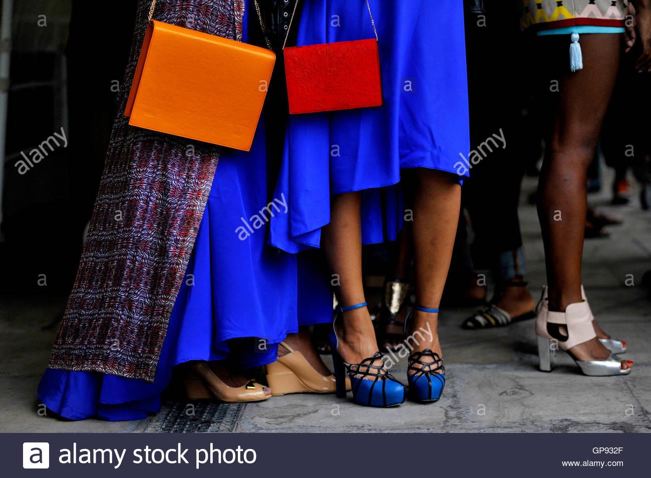 Models backstage at Africa Utopia Fashion Event Southbank London, England UK September 3 2016. Credit:  wayne Tippetts/Alamy - Stock Image