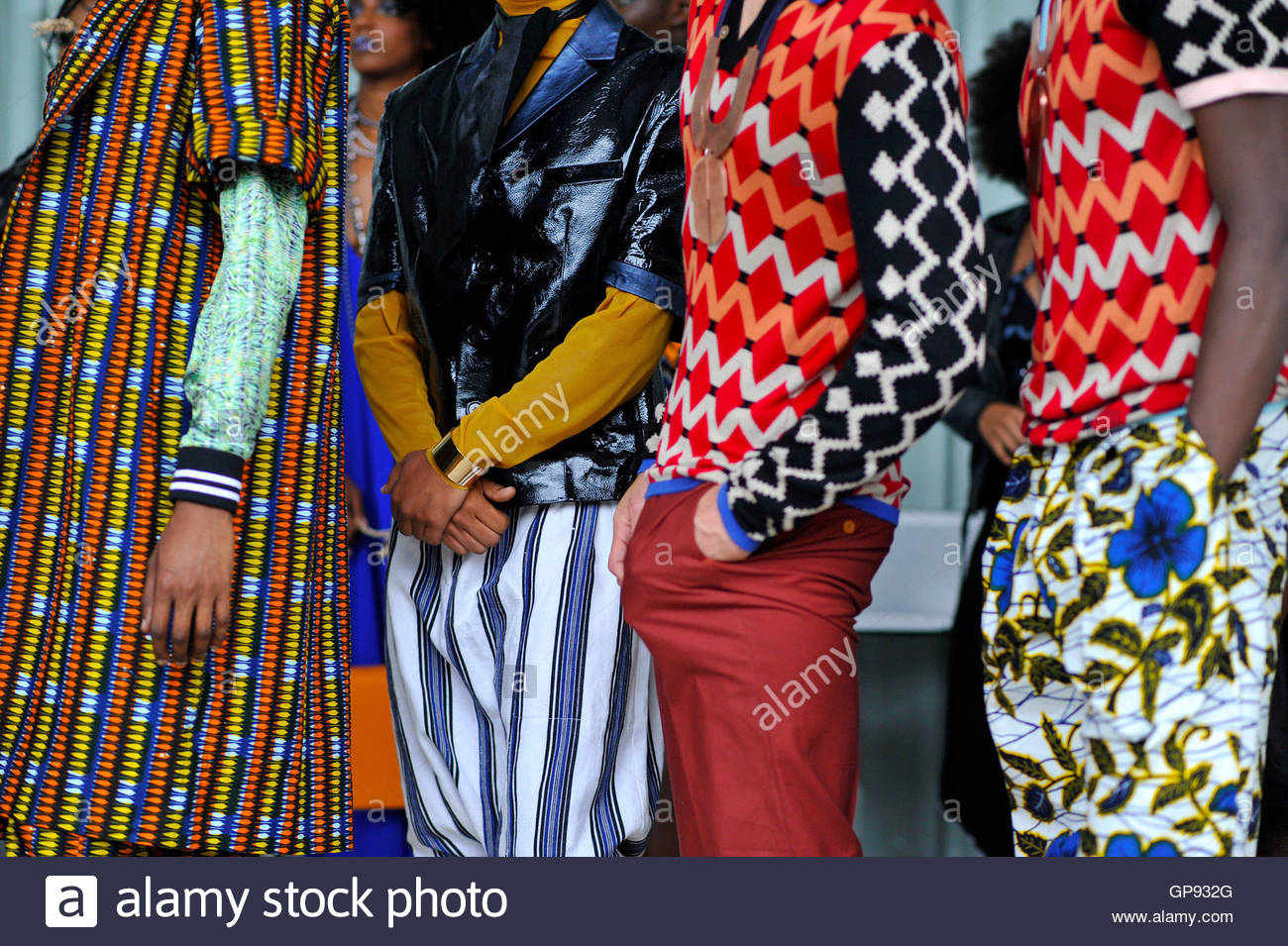 Details of models backstage at Africa Utopia Fashion Event Southbank London, England UK September 3 2016. Credit: - Stock Image