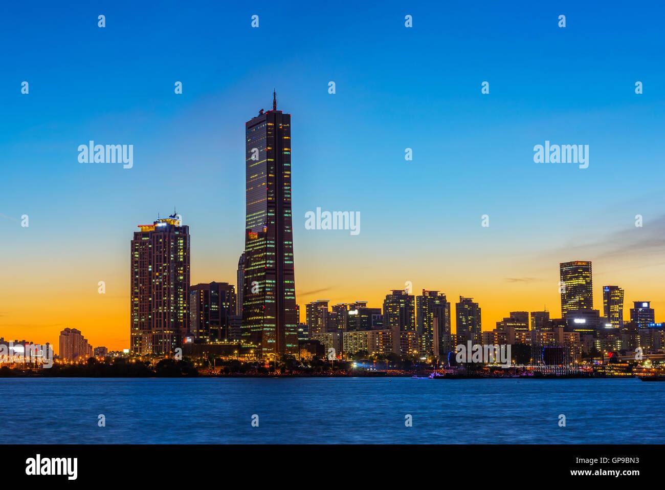 Korea,Seoul at night, South Korea city skyline. - Stock Image