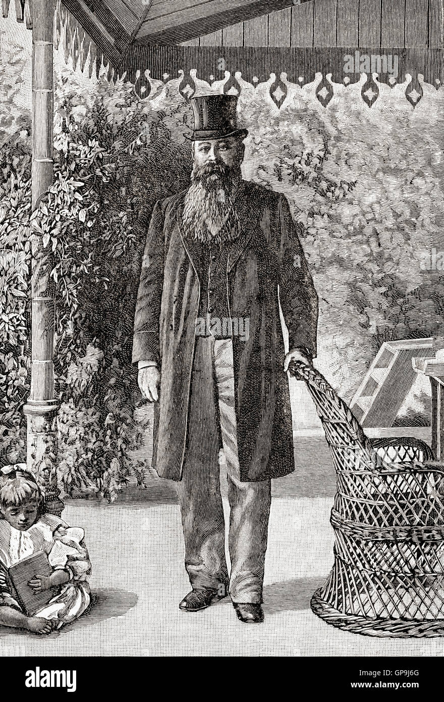 Martinus or Marthinus Theunis Steyn, 1857 –1916.  South African lawyer, politician and statesman, sixth and last - Stock Image