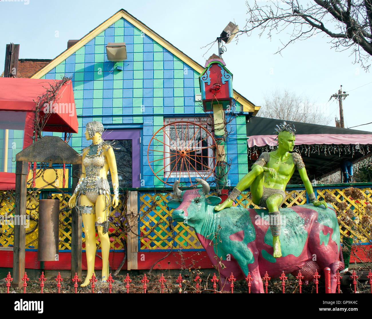 Mannequins at Papermoon Diner in Baltimore Maryland - Stock Image