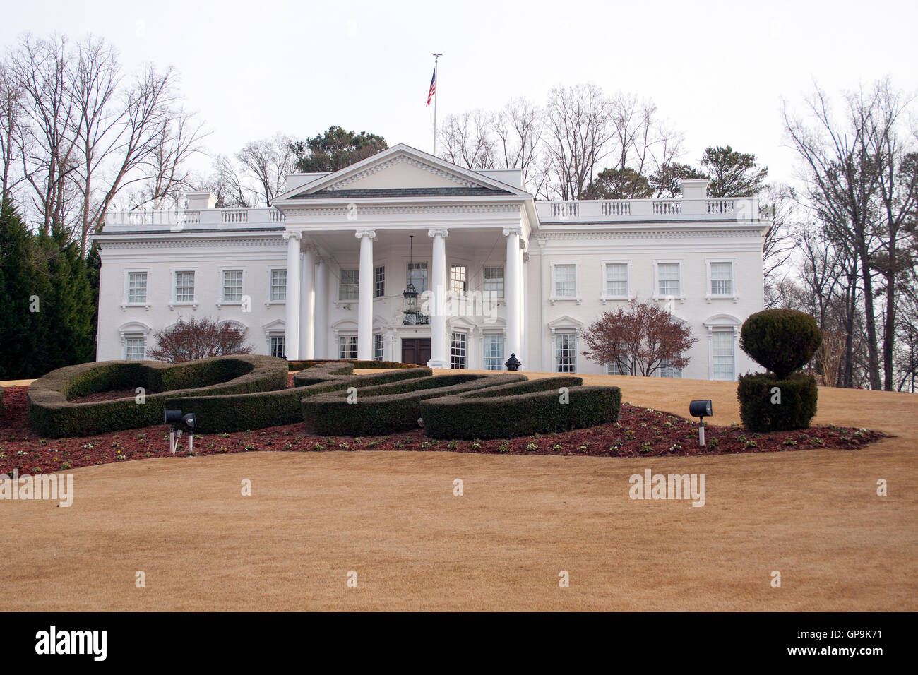 White House replica in Atlanta Georgia - Stock Image