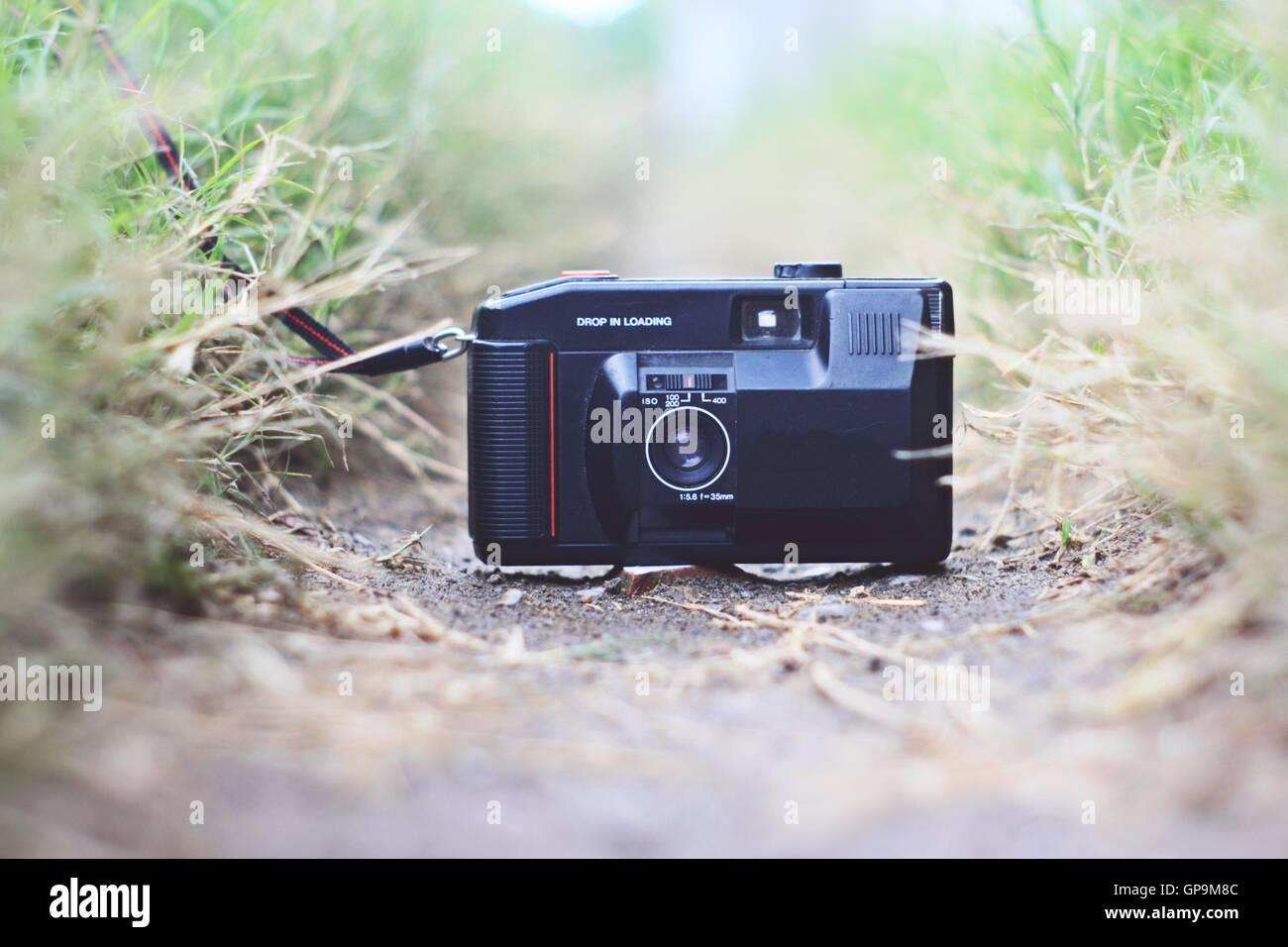 analog pocket camera Stock Photo