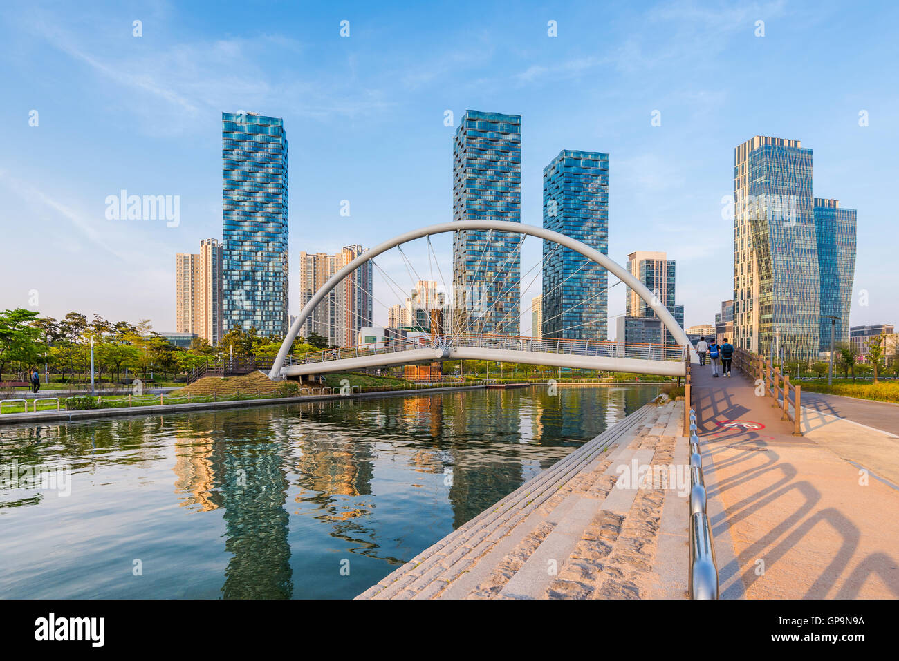 Incheon,Central Park in Songdo International Business District , South Korea. - Stock Image