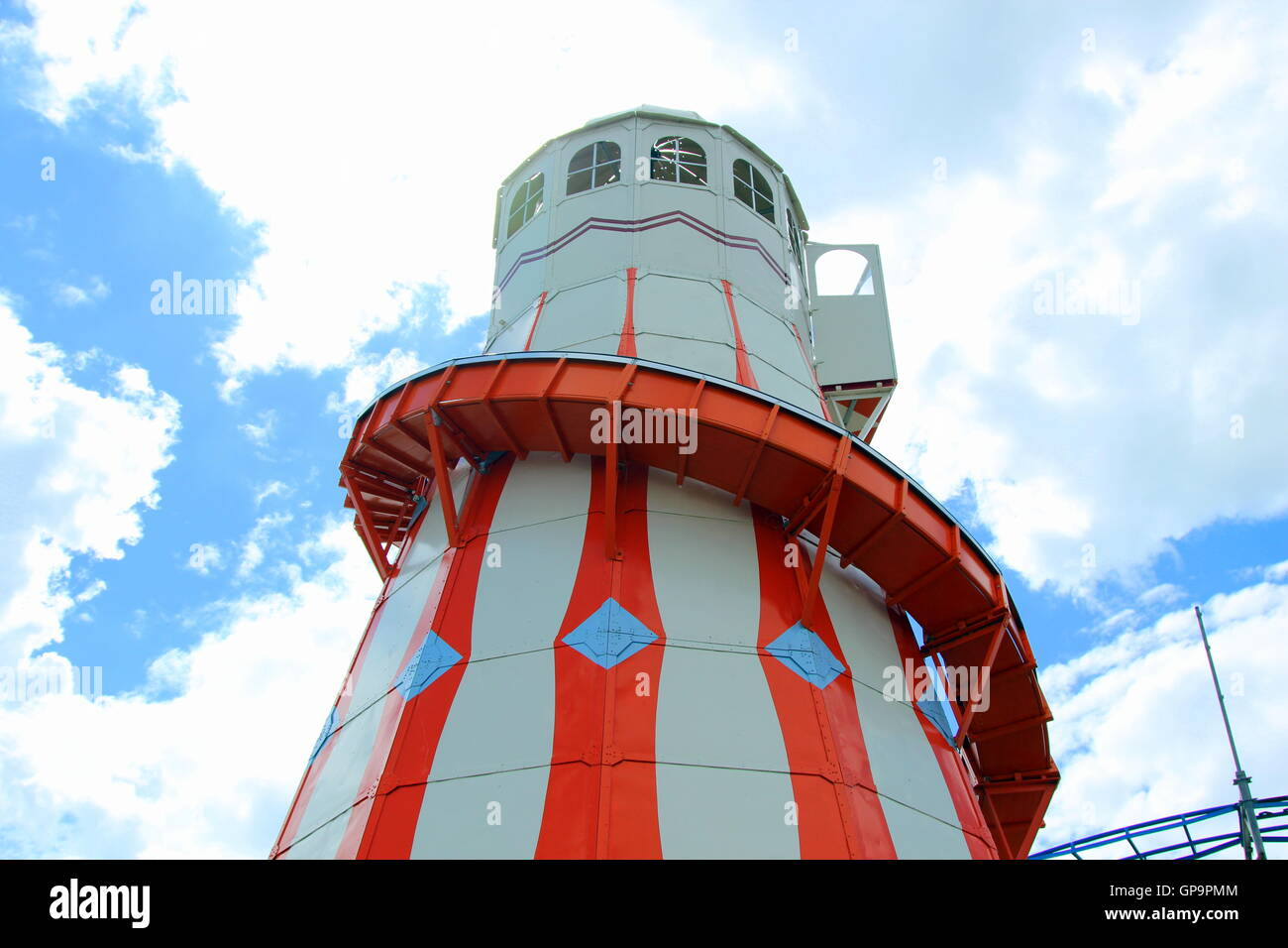 Clacton Pier new Helter Skelter - Stock Image