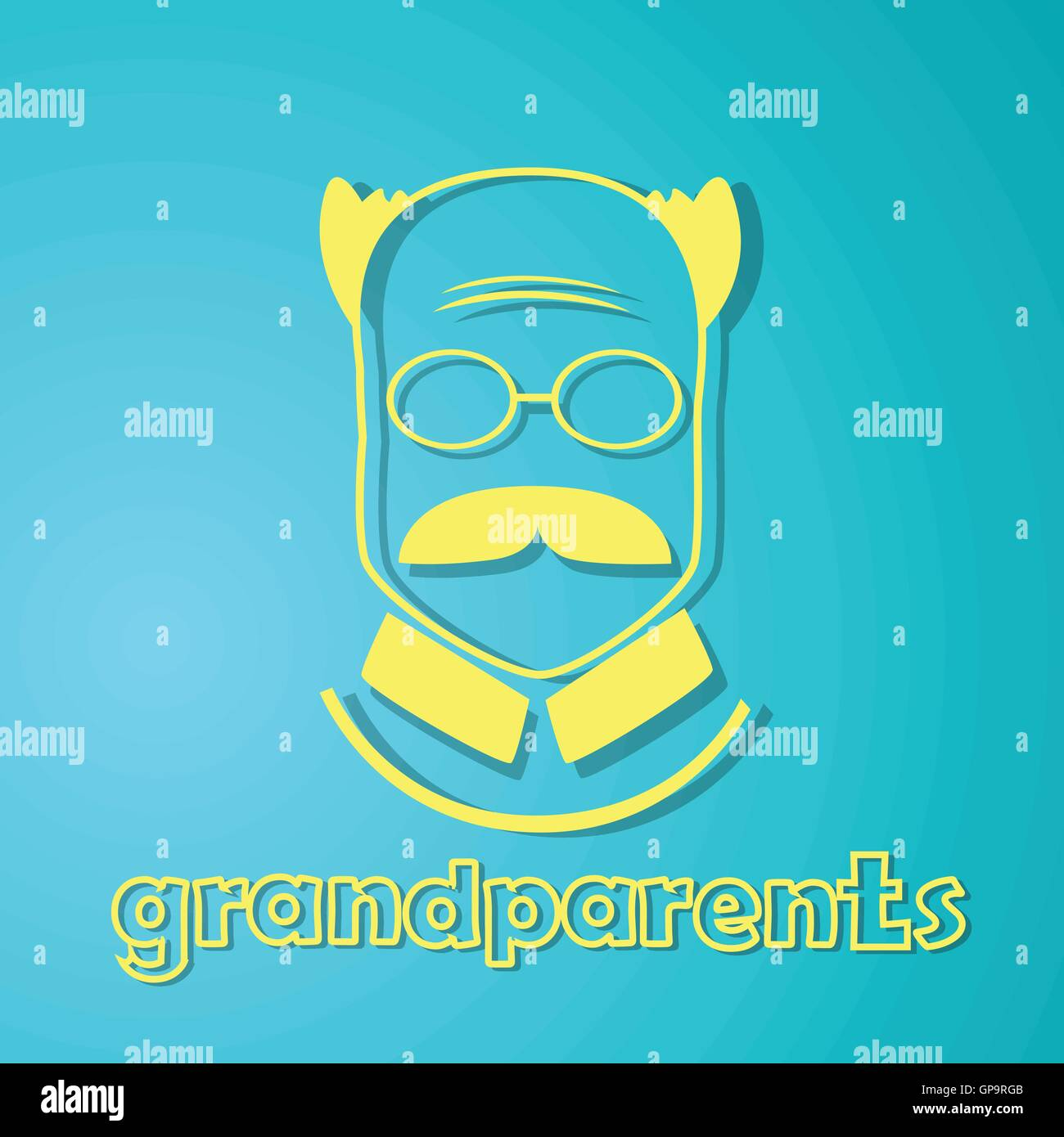 Grandfather silhouette happy grandparents day greeting card stock grandfather silhouette happy grandparents day greeting card m4hsunfo