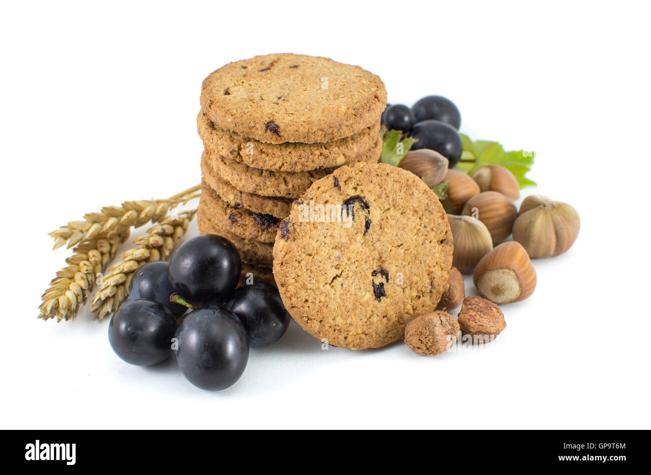 Biscuits Biscuit Box Food Cut Out Stock Images Pictures Alamy Jules Destrooper Apple Thin 100 Gr Integral Cookies With Grapes And Hazelnuts Isolated Image