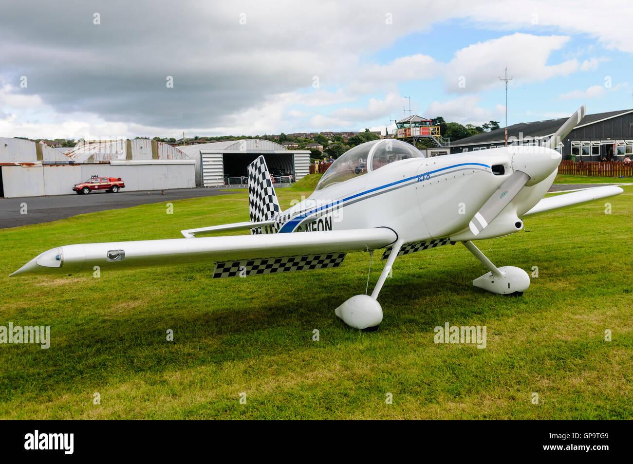 G-NFON Vans RV-8 aircraft - Stock Image
