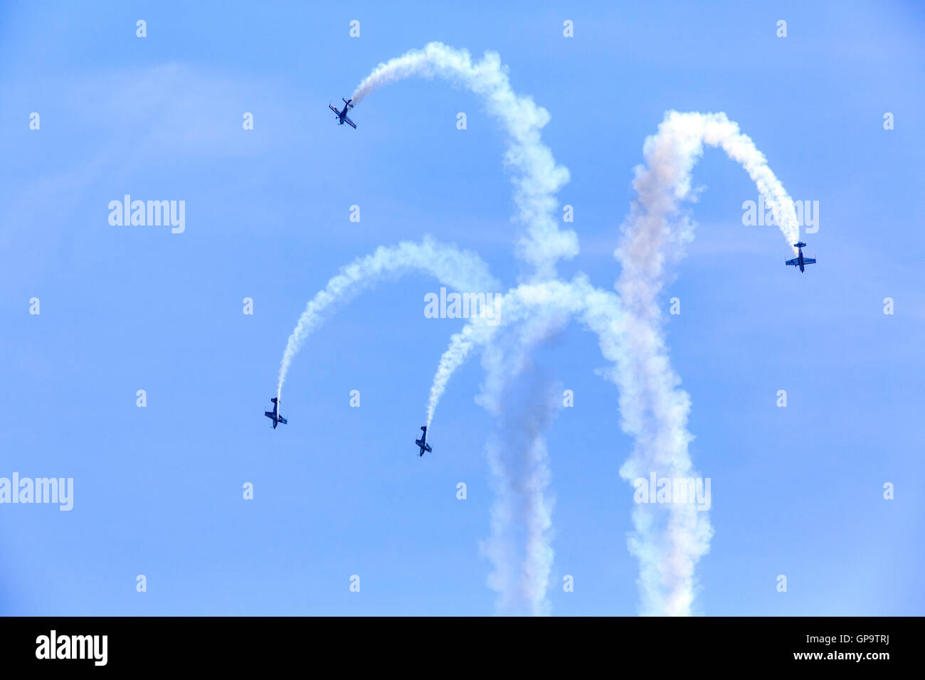 The Blades aerobatic display at Eastbourne Airbourne Airshow 2016 - Stock Image