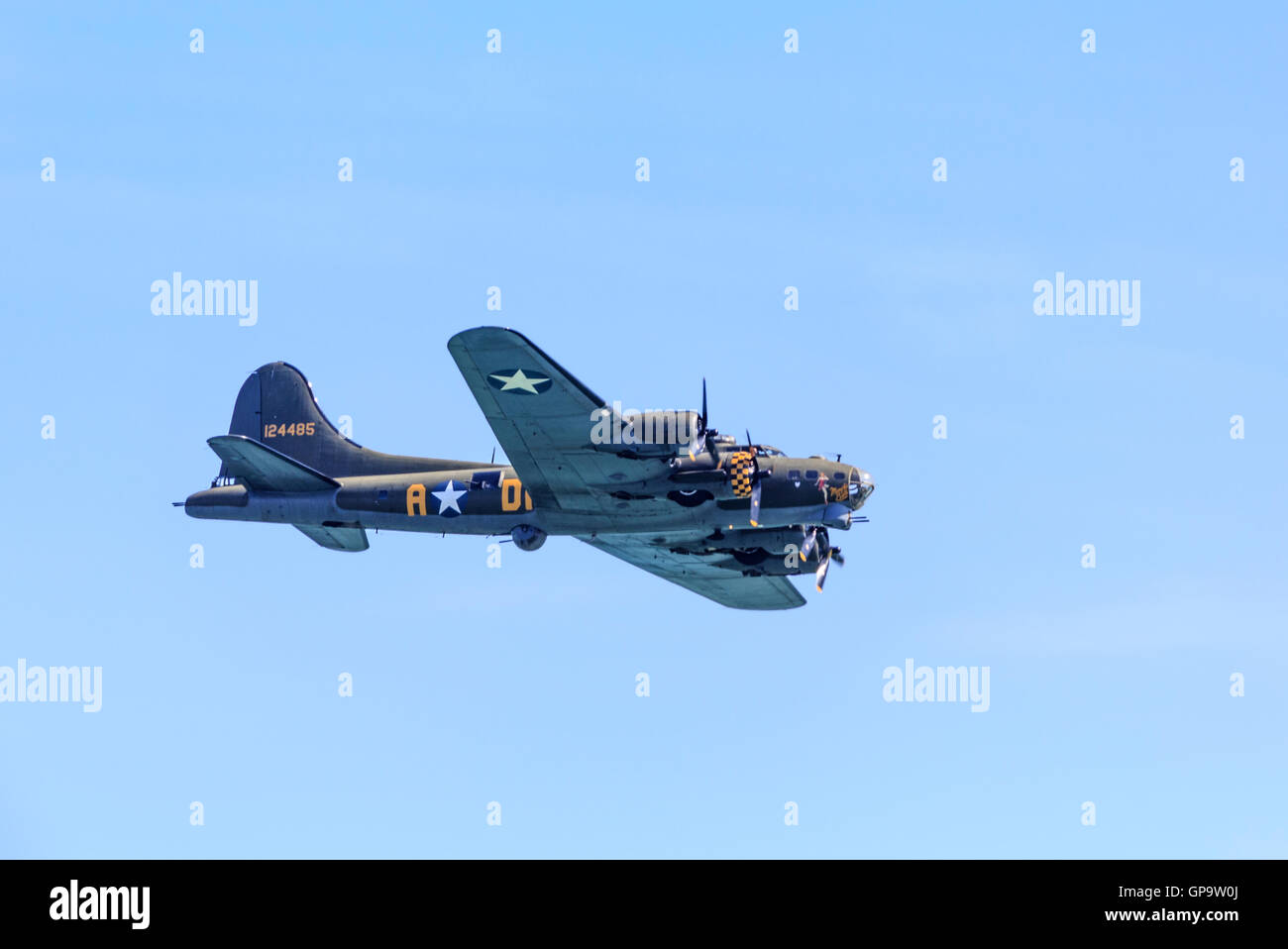 Boeing B-17G-105-VE Flying Fortress Sally B at Eastbourne Airshow Airbourne 2016 - Stock Image