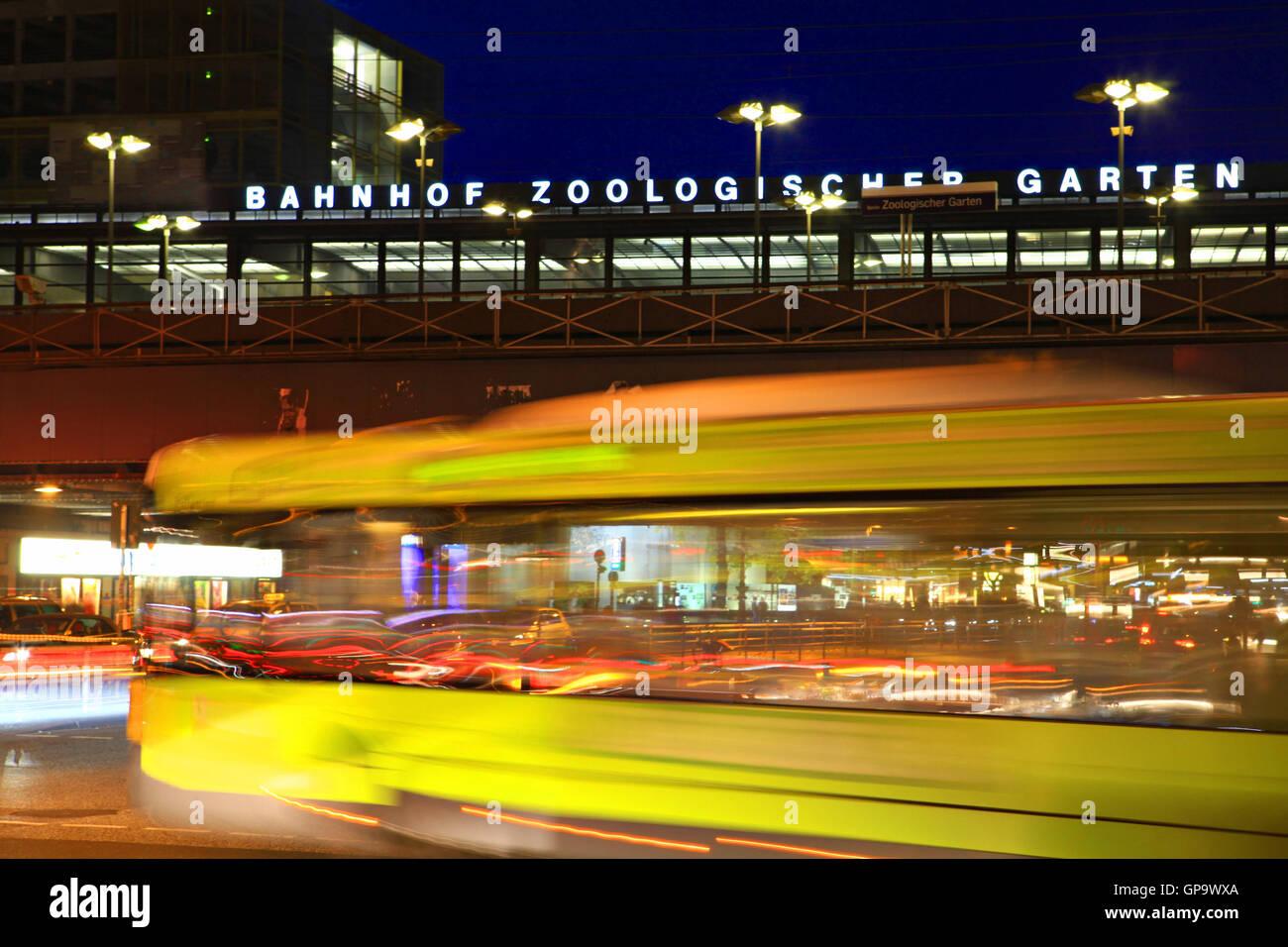 Image of Zoologischer Garten station in Berlin, Germany. - Stock Image