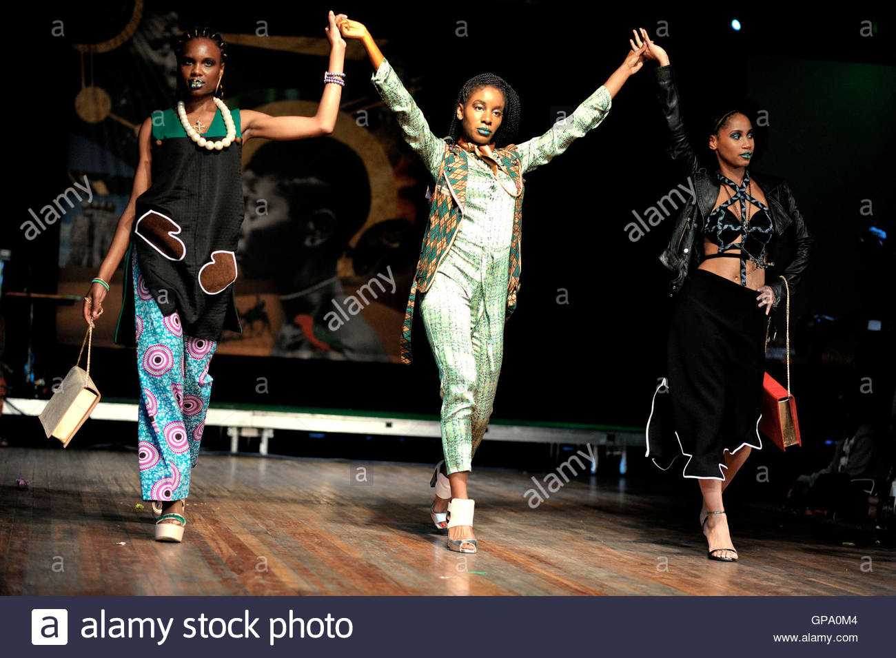 Models on the catwalk for Africa Utopia at the Clore Ballroom, Southbank Centre.September 3 2016. - Stock Image