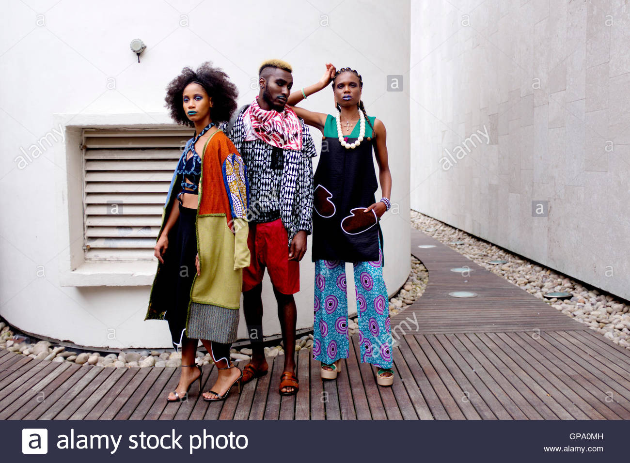 Models backstage at Africa Utopia Fashion Event Southbank London, England UK September 3 2016. - Stock Image