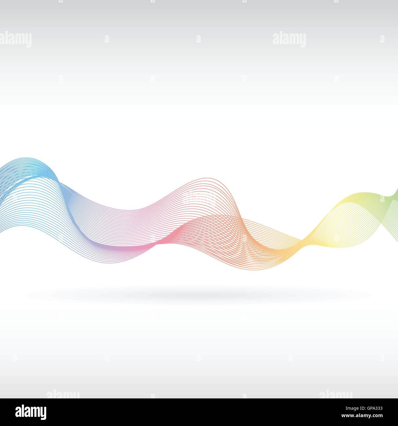 An abstract rainbow smoke design - Stock Image