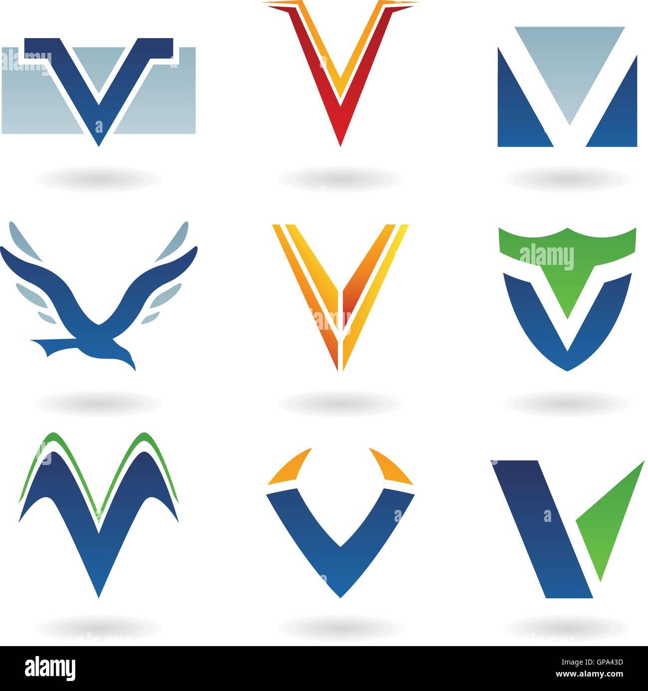 Creative Letter V Logo Stock Photos Creative Letter V Logo Stock