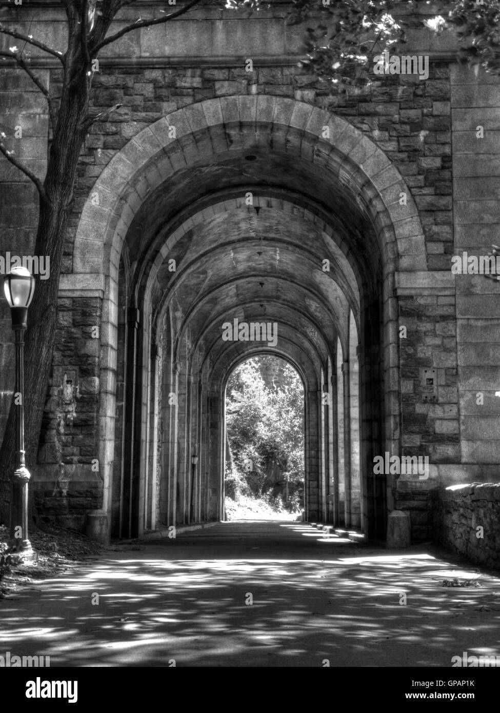 Arcade of Fort Tryon Park - Stock Image