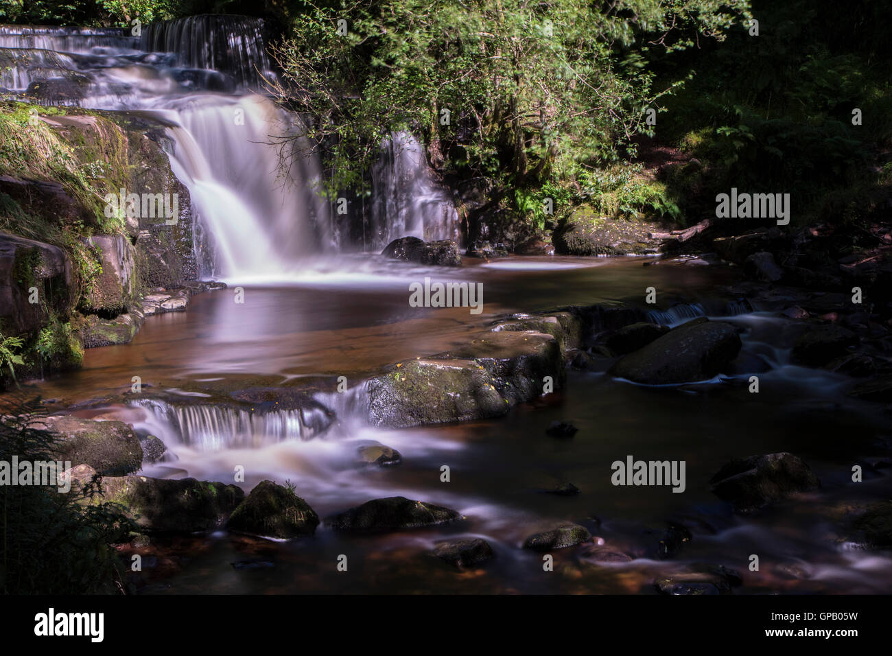 Blaen-Y-Glyn Waterfall Stock Photo
