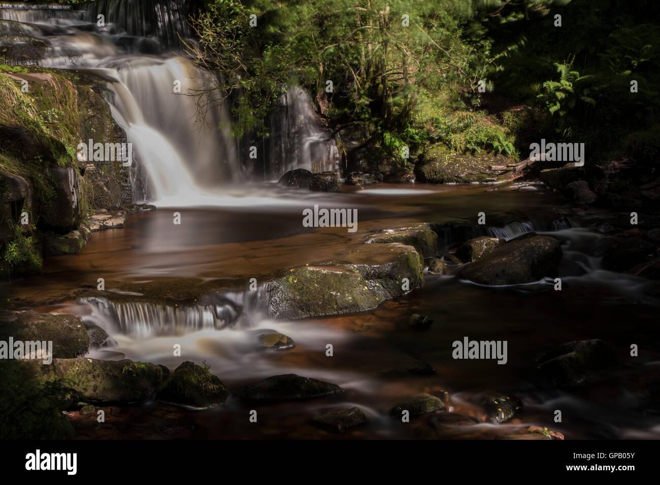 Blaen-Y-Glyn Waterfall - Stock Image