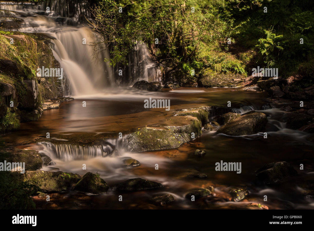Blaen-Y-Glyn Waterfall Stock Photo