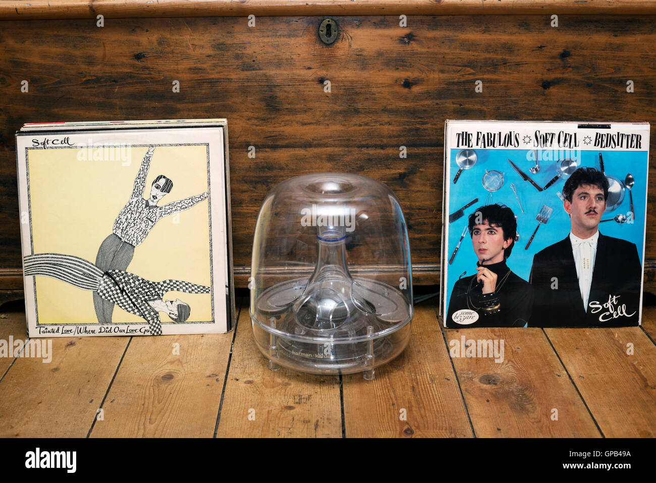 Soft Cell Tainted Love and Bedsitter 12' singles - Stock Image