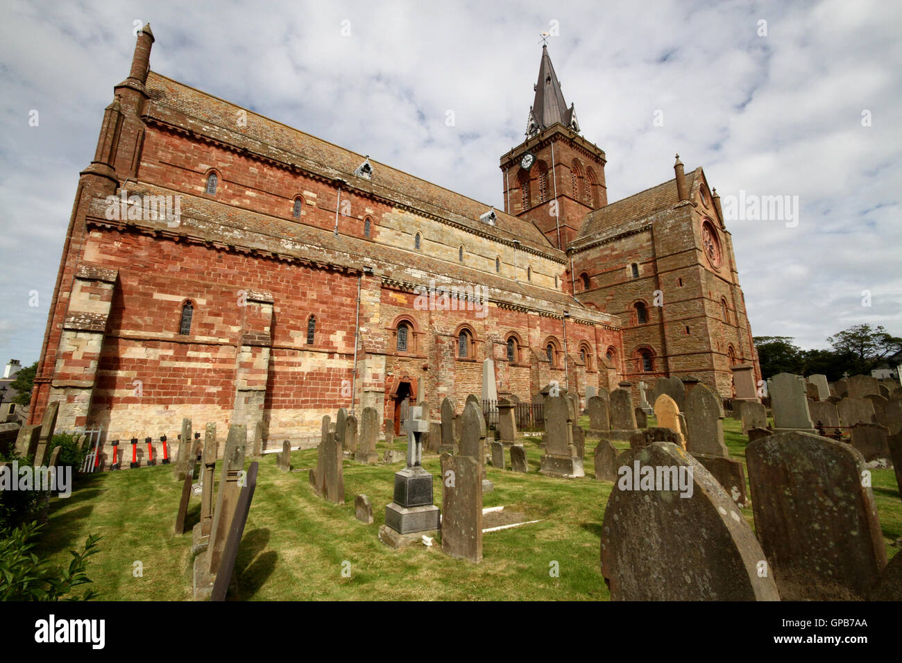 St Magnus Cathedral Kirkwall Orkney - Stock Image