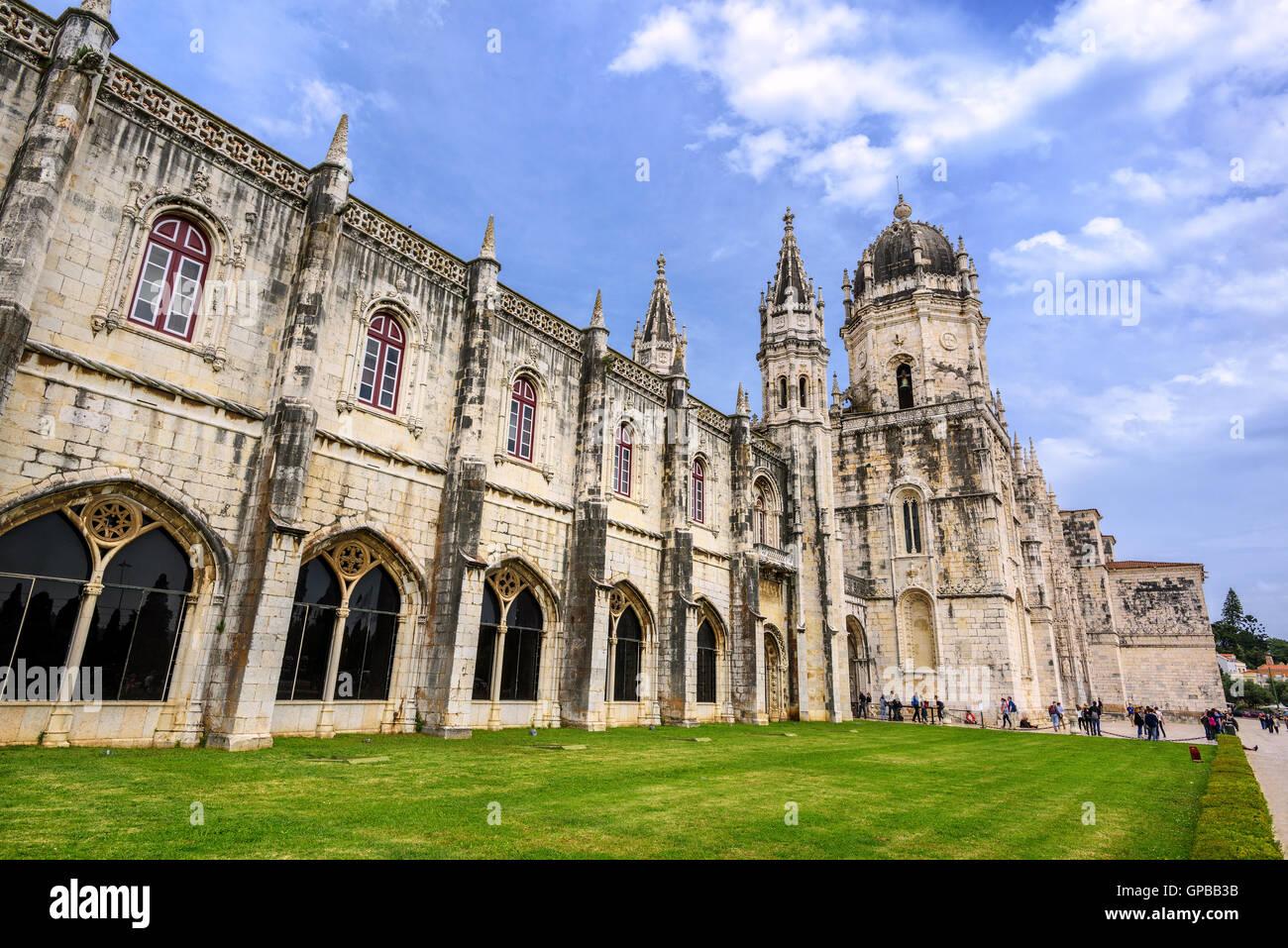 Monastery dos Jeronimos, Lisbon, Portugal - Stock Image