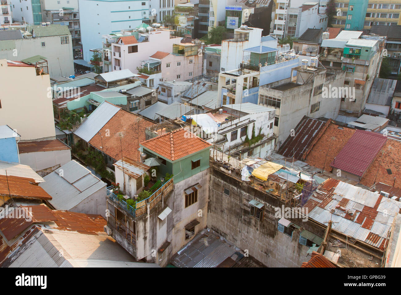 Part of the non commercial skyline of Ho Chi Minh City (Saigon) - Stock Image