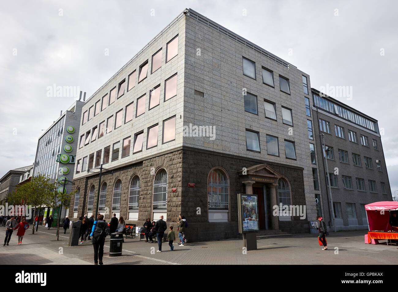 Reykjavik district courthouse building Iceland - Stock Image