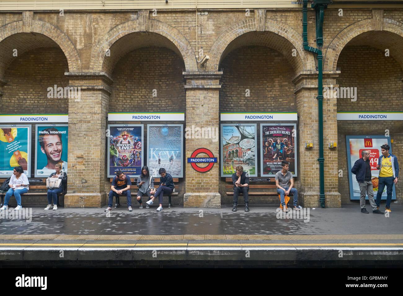 paddington underground station - Stock Image