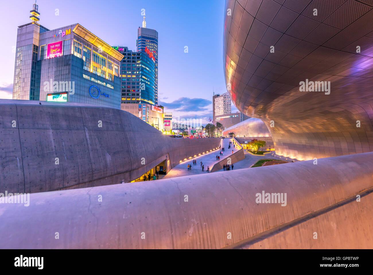 Dongdaemun Design Plaza,in seoul korea. - Stock Image