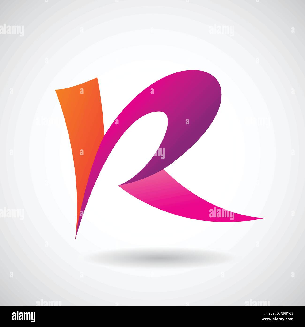 Design Concept of a Colorful Stock Logo Icon of Letter R, Vector ...
