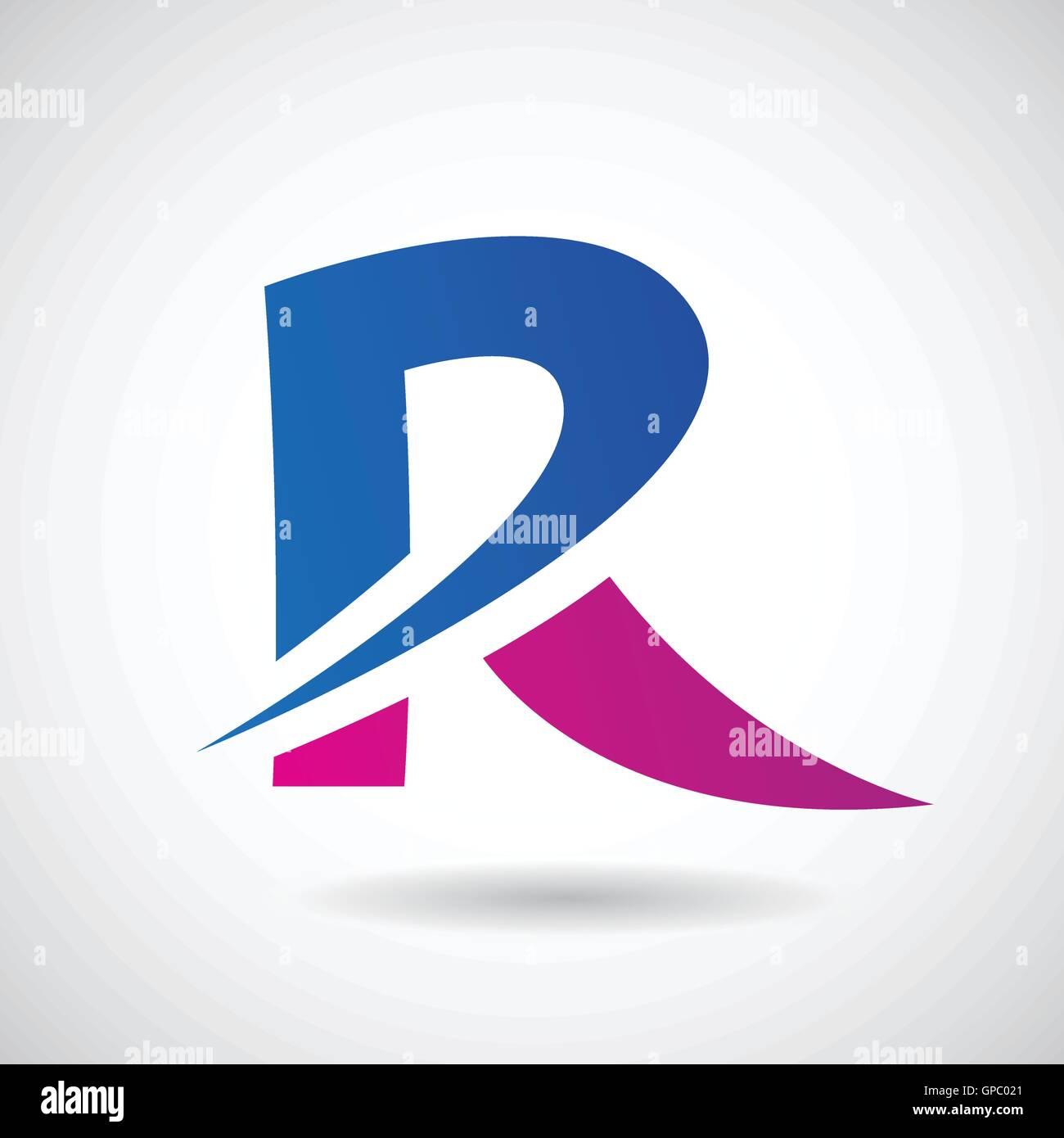 07e6e245 Design Concept of a Colorful Stock Logo Icon of Letter R, Vector  Illustration