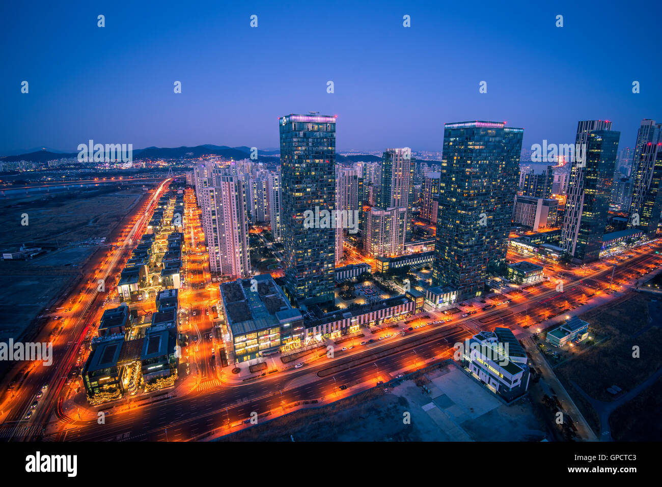Central Park, incheon, South Korea - Stock Image