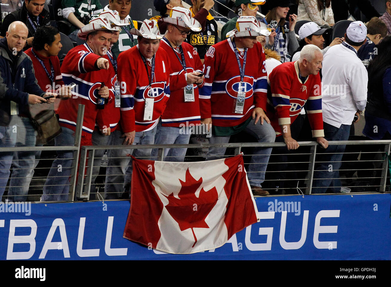 los angeles ac03e 32404 Feb 6, 2011; Arlington, TX, USA; Montreal Canadiens fans in ...