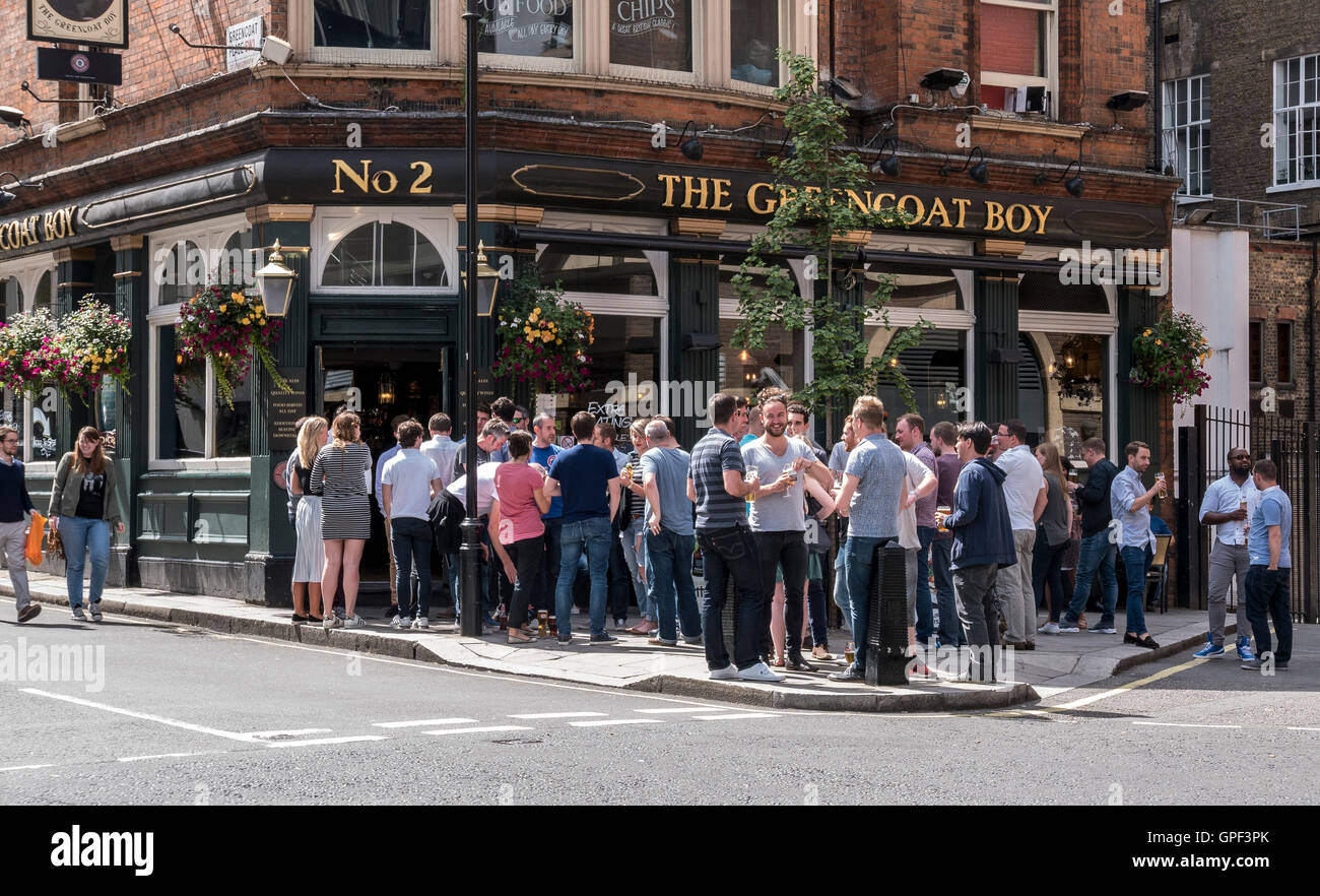 Greencoat Boy Pub in VIctoria on a summers lunchtime at London SW1 - Stock Image
