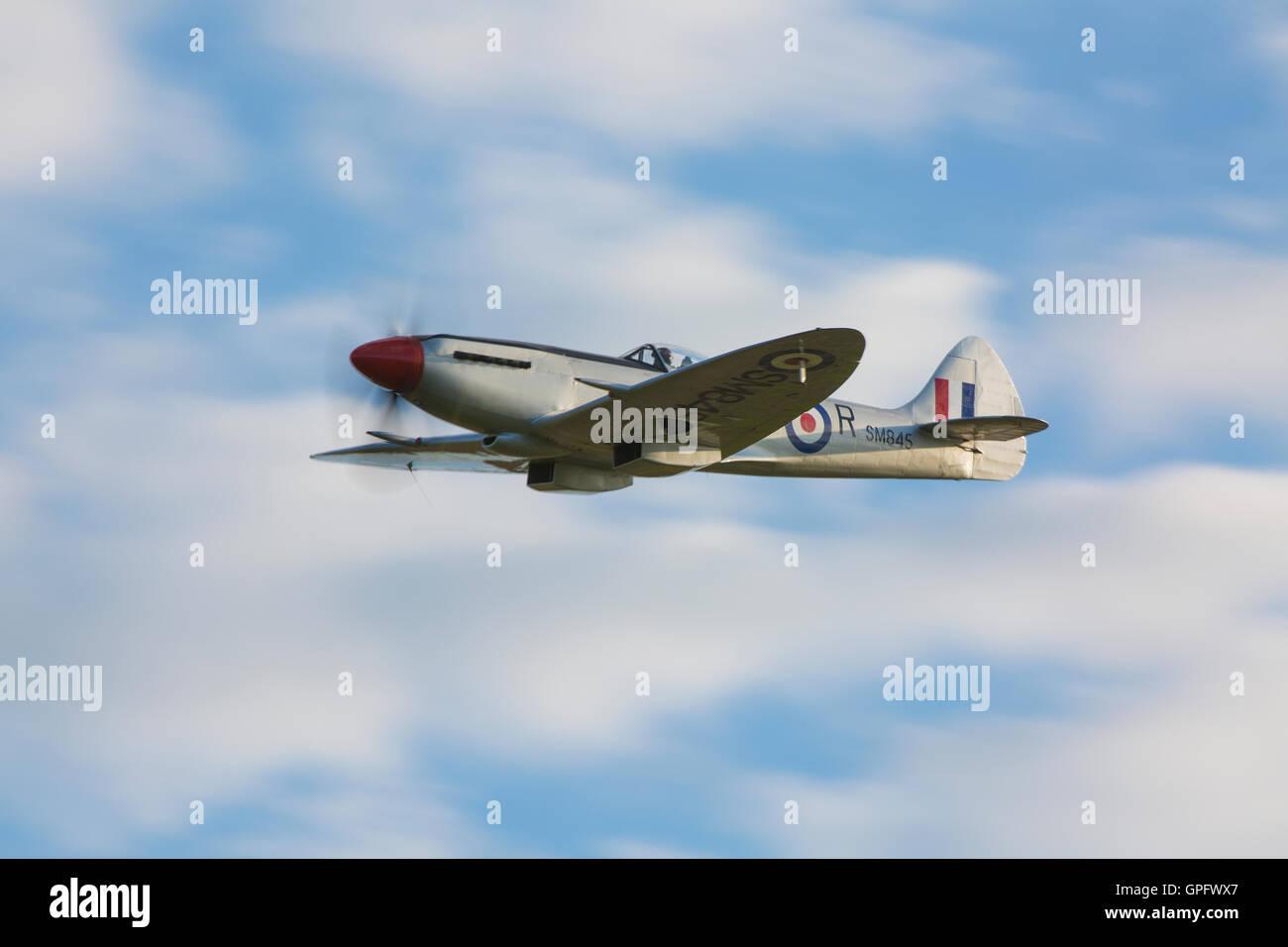 Spitfire Mk FR.XVIIIe SM845 (G-BUOS) - Stock Image