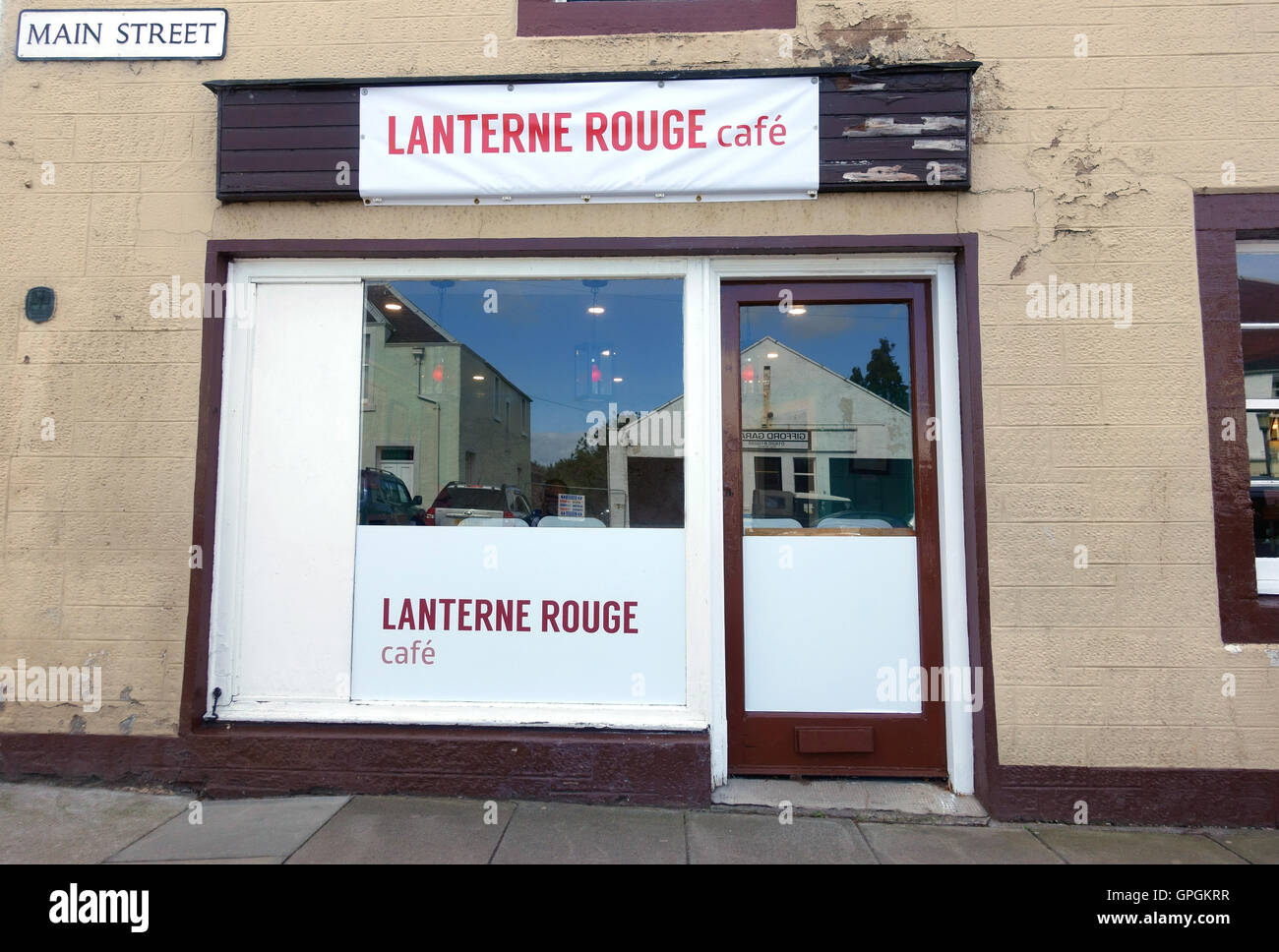 Lanterne Rouge cycling  in Gifford North Berwick Scotland - Stock Image