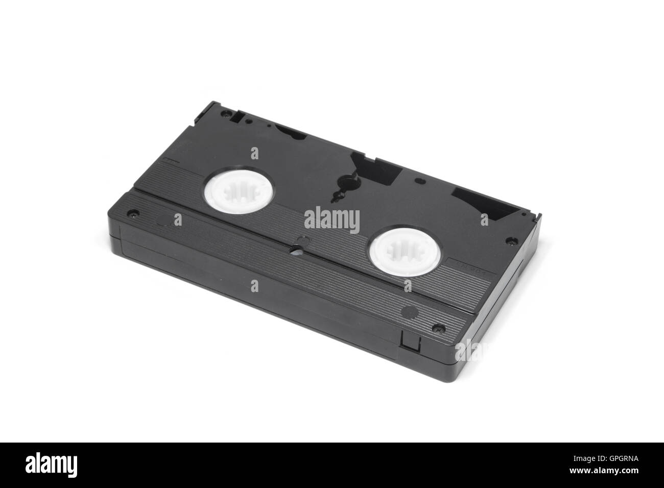 Old vhs tape isolated on white background. - Stock Image