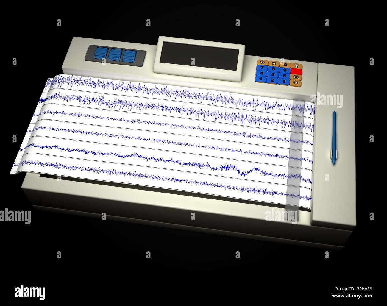 encephalogram Stock Photo