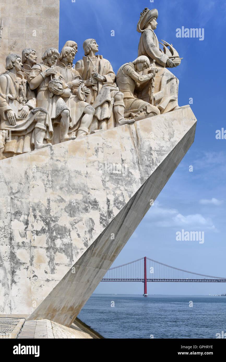 Discoveries Monument - Padrao dos Descobrimentos, Lisbon, Portugal - Stock Image