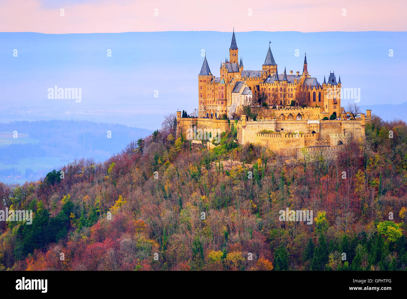hohenzollern castle stuttgart germany in the early. Black Bedroom Furniture Sets. Home Design Ideas