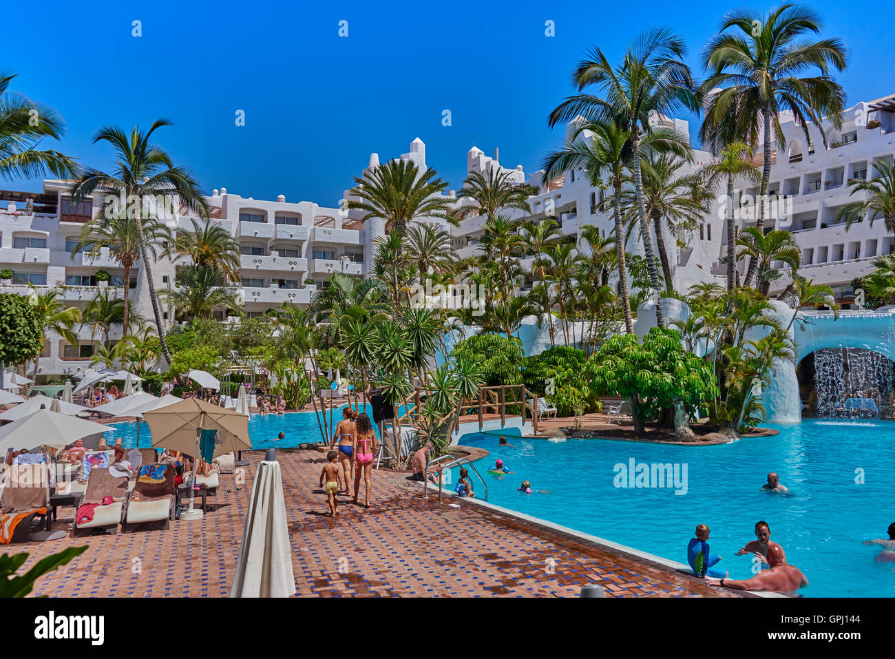 hotel jardin tropical costa adeje tenerife stock photo 117180676 alamy. Black Bedroom Furniture Sets. Home Design Ideas